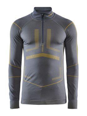 Craft Active Intensity zip Langarm Unterwäsche Grau/Gelb Herren
