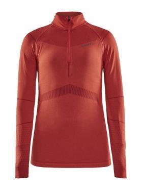Craft Active Intensity zip Langarm Unterwäsche Rot Damen