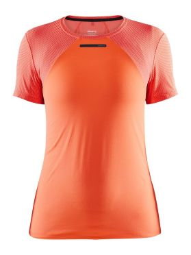 Craft Vent Mesh Kurzarm Laufshirts Orange Damen