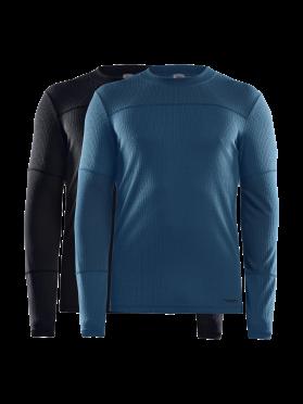 Craft Core Dry Unterhemd 2-Pack Lange Ärmel Schwarz/Blau Herren