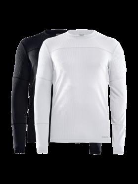 Craft Core Dry Unterhemd 2-Pack Lange Ärmel Schwarz/Weiß Herren