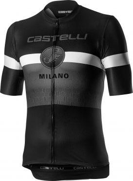 Castelli Milano Kurzarmtrikot Schwarz/Weiß Herren