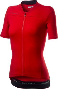 Castelli Anima 3 Kurzarmtrikot Rot Damen