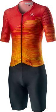 Castelli PR speed Trisuit Kurzarm Schwarz/Rot Herren