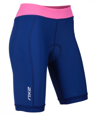 "2XU Active Tri short 7.5"" Blau/Rosa Damen"