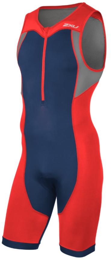 2XU Active Trisuit Rot/Blau Herren