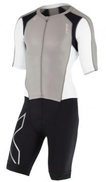 2XU Compression Full Zip sleeved trisuit Schwarz/Grau/Weiß Herren