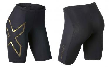 2XU Elite MCS Compression Short Schwarz/Gold Damen