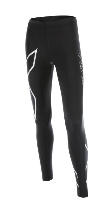 2XU HEAT Compression Tights Schwarz-Weiß Damen