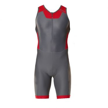 2XU X-vent Front Zip Trisuit Grau/Rot Herren