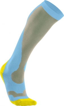 2XU Performance Kompressions socks Blau/Gelb