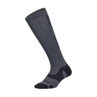 2XU Vectr merino LC Full Lenght Kompression hoche socken Grau