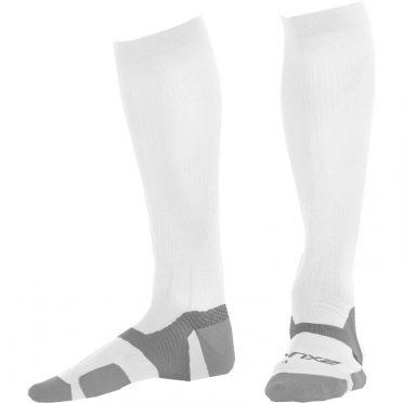 2XU Vectr merino LC Full Lenght Kompression hoche socken Weiß/Grau