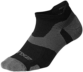 2XU Vectr merino light Noshow Kompression socken Schwarz