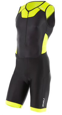 2XU X-vent Front Zip Trisuit Schwarz/Gelb Herren