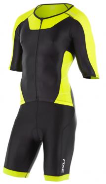 2XU X-vent Sleeved Full Front Zip Trisuit Schwarz/Gelb Herren