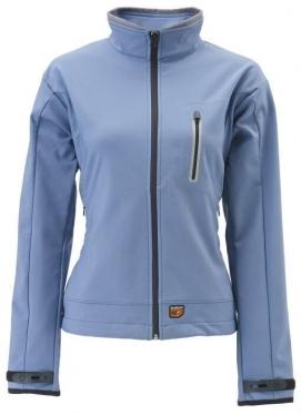 30Seven beheizte Softshell-Damenjacke blau