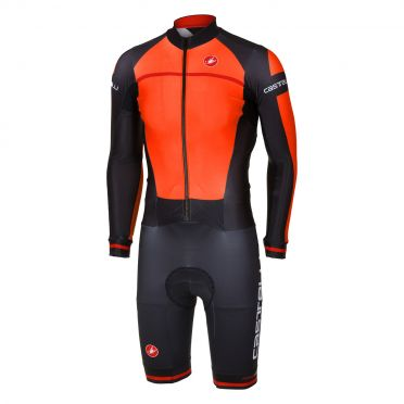 Castelli CX 2.0 speedsuit Orange/Schwarz Herren