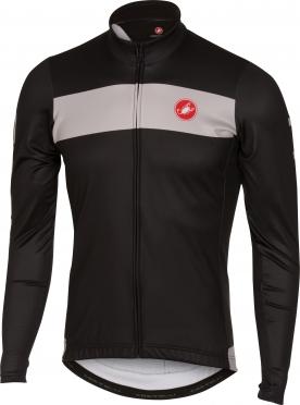 Castelli Raddoppia jersey FZ Schwarz/Grau Herren 16518-010