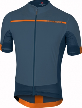 Castelli Forza pro Kurzarmtrikot Blau/Orange Herren