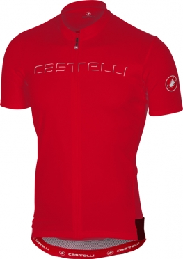 Castelli Prologo V Kurzarmtrikot Rot Herren