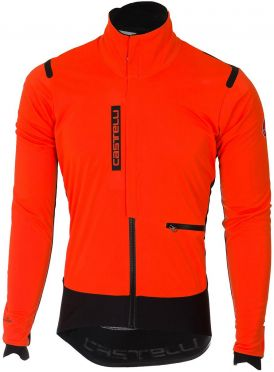 Castelli Alpha RoS Jacket Orange/Schwarz Herren
