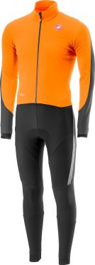 Castelli Sanremo 3 Thermosuit Orange/Schwarz Herren