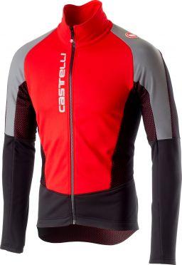 Castelli Mortirolo V Reflex Jacket Rot Herren