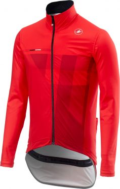 Castelli Pro fit light Regen Jacket Rot Herren