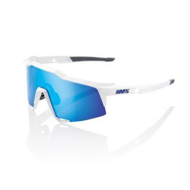 100% Speedcraft Sportbrillen Weiß mit hiper lens Blau