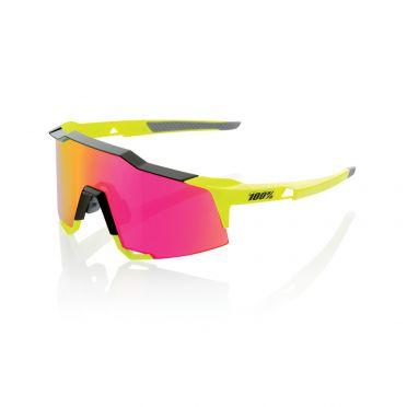 100% Speedcraft Sportbrillen Gelb mit mirror lens