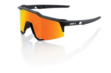 100% Speedcraft Sportbrillen Schwarz mit hiper lens Orange