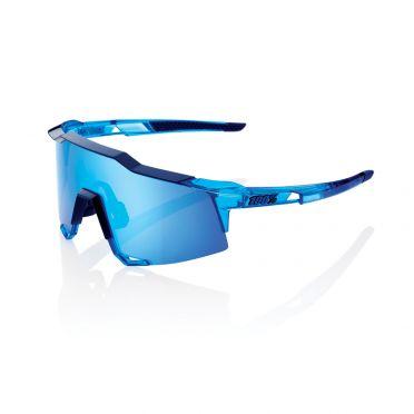 100% Speedcraft Sportbrillen polished crystal Blau mit hiper lens Blau