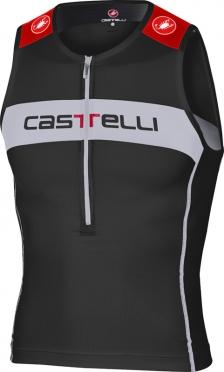 Castelli Core Tri Top Schwarz/Weiß/Rot Herren