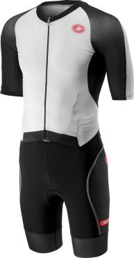 Castelli All out speed Trisuit Kurzen Ärmel Weiß/Schwarz Herren