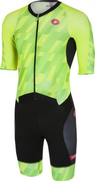 Castelli All out speed Trisuit Kurzen Ärmel pro Grün/Schwarz Herren