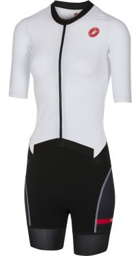 Castelli All out W speed Trisuit Kurzen Ärmel Weiß/Schwarz Damen