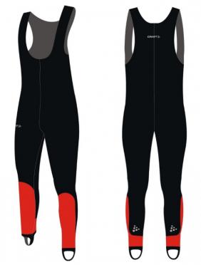 Craft Skate thermo Eislaufhose collant Dynema Schwarz/rot Unisex