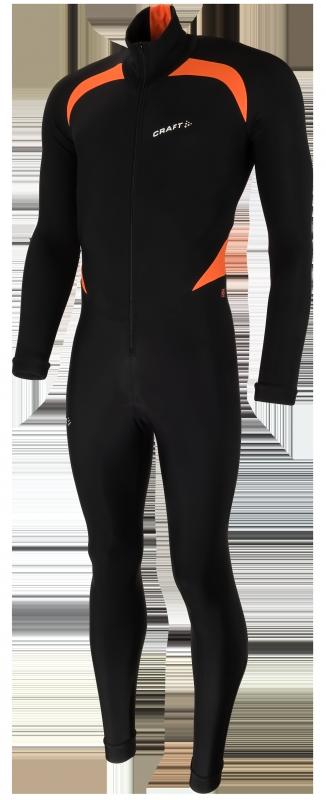 Craft Thermo Eislaufanzug CB Schwarz/Orange Unisex