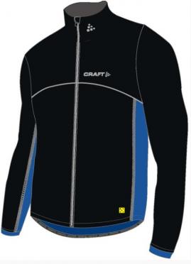 Craft Thermo Eislauf Jacke windstopper flatlock Schwarz/Blau Unisex