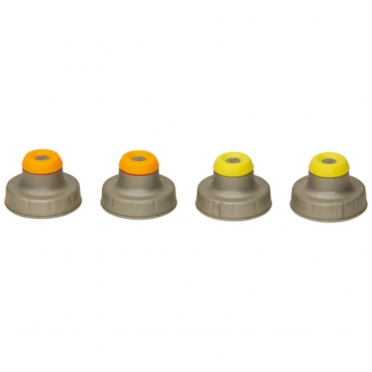 Nathan Push Pull Caps 4-Pack Silber 975246