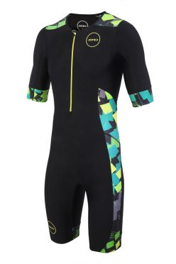 Zone3 Activate Plus Kurzarm Trisuit Electric sprint Herren
