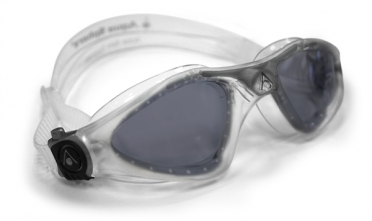Aqua Sphere Kayenne dunkle Linse Schwimmbrille Silber