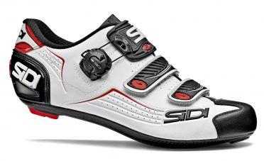 Sidi Alba Rennradschuh Weiß/Schwarz/Rot Herren