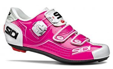 Sidi Alba Rennradschuh Fuxia/Weiß Damen