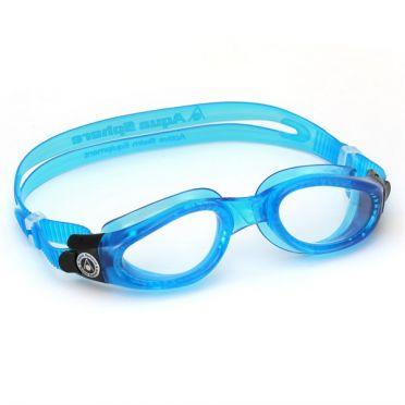 Aqua Sphere Kaiman Schwimmbrille transparenter Linse blau