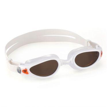 Aqua Sphere Kaiman EXO Schwimmbrille mit polarisierten Linsen weiß/orange