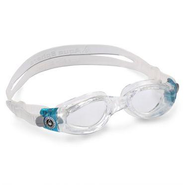 Aqua Sphere Kaiman transparente Linse kleiner Passform zwembril aqua/wit