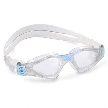 Aqua Sphere Kayenne Kleine Schwimmbrille transparenter Linse weiß/blau