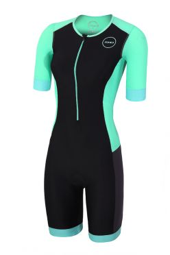 Zone3 Aquaflo plus Kurzarm Trisuit Schwarz/Mint Damen